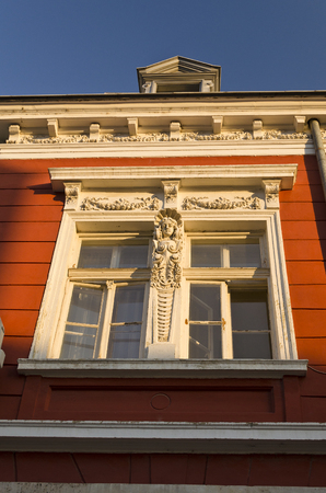 decorative balconies: Building neoclassical style late 19th century, Bulgaria Ruse