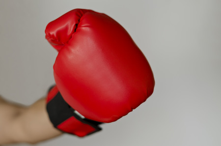 headed: Boxing glove headed into the front of you