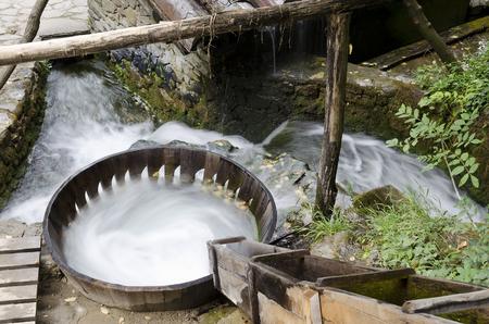 Washing  with water in the Etar, Gabrovo, Bulgaria Stock Photo