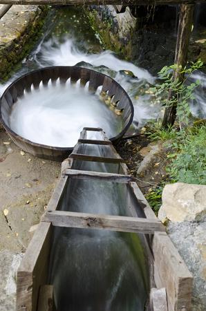 operative: Washing  with water in the Etar, Gabrovo, Bulgaria Stock Photo