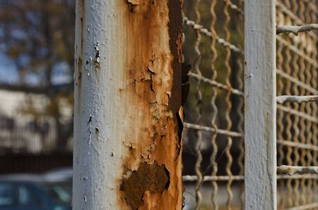 rusty wire: Old rusty wire fence with a depth of field