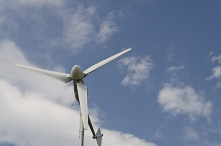 Wind turbine, renewable energy for home use Stock Photo