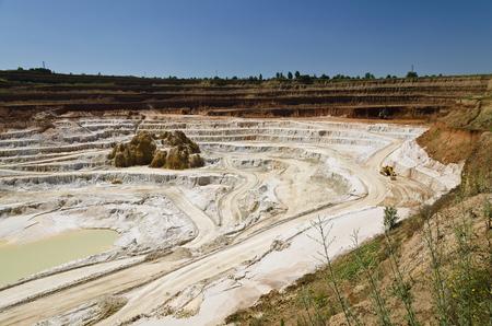 excavate: Stone quarry with excavate - Open pit mine