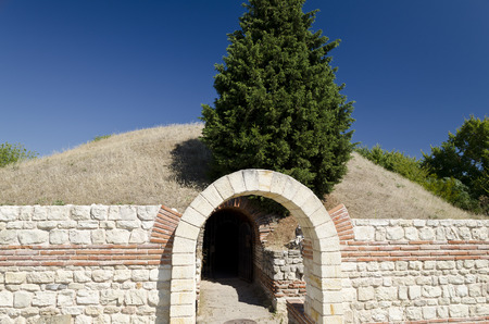 The tourism in Bulgaria - mound in a Sunny summer day