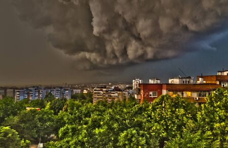 The storm in the spring time in Ruse, northern Bulgaria