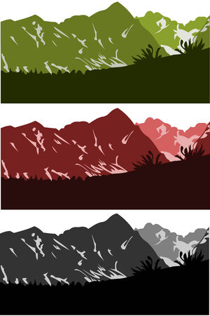 skylines: vector collection of mountains skylines