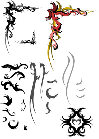 shilouette: vector collection of swirls elements