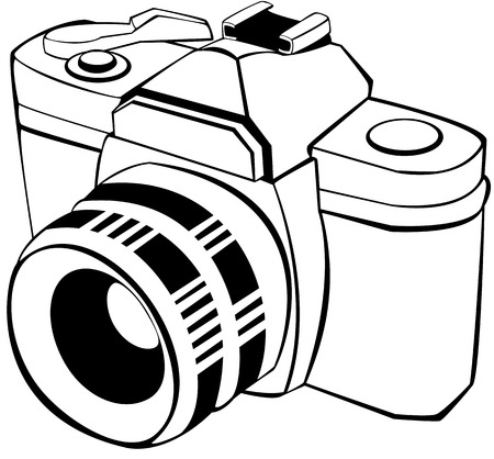 digital camera: vector draw of an analogic reflex