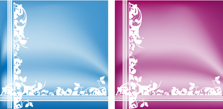 vector set of background with gradient and decoration Vector