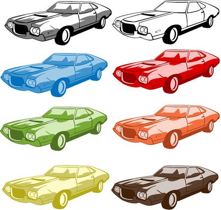 streetcar: serie de vectores del deporte autom�vil en diferentes colores Vectores