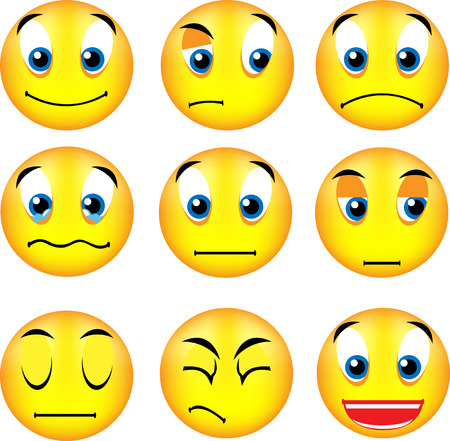 disappoint: vector emoticons with different expression