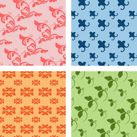 set of different geometrical patterns Vector