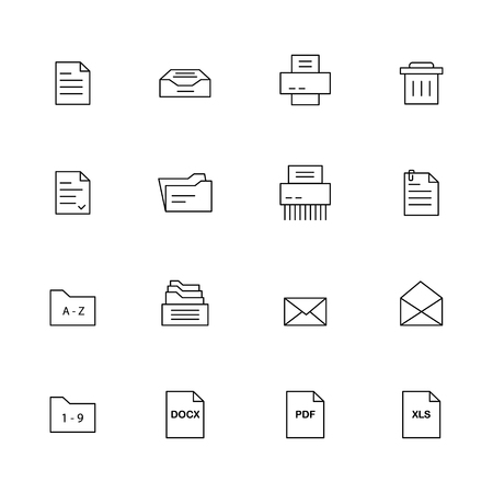Simple document icons.