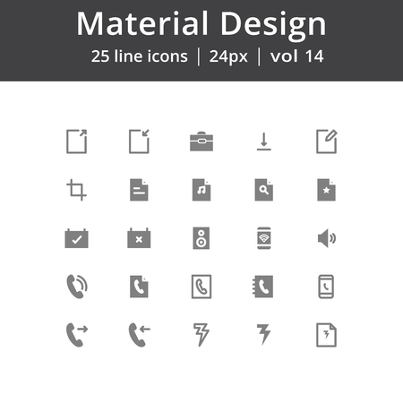music: Material Design UI Line Icons