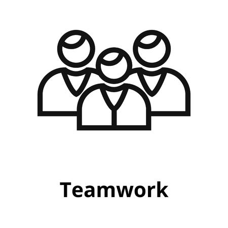 Teamwerk dunne lijn pictogram. Stock Illustratie