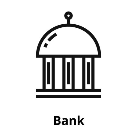 Bank thin line icon.
