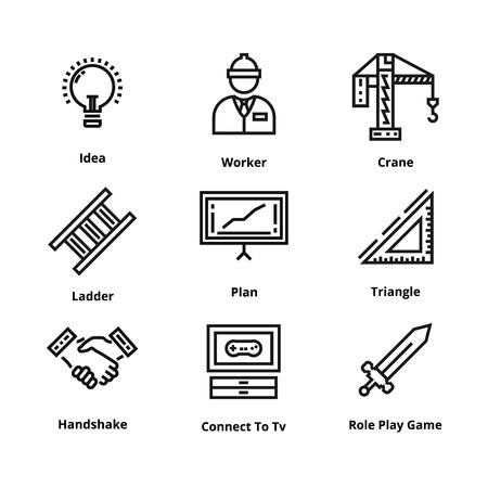 Set of high quality line icon. Icon for web and user interface.