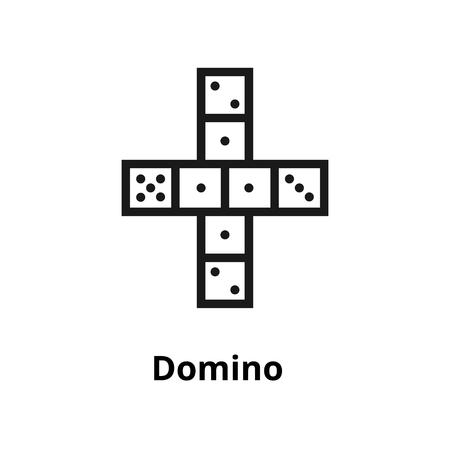 Een pictogram van een dunne lijn van Domino. Pictogram voor web- en gebruikersinterface Stock Illustratie
