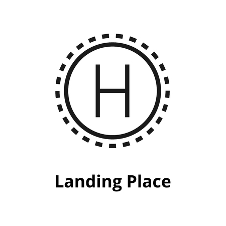 Landing Place Line Icon