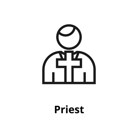 Priest thin line icon. For user interface and web. Illustration