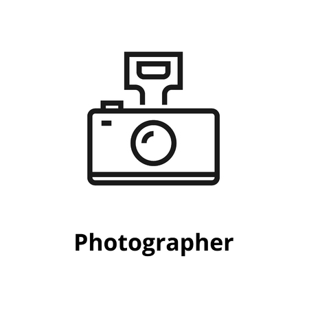 Photographer thin line icon. For user interface and web.