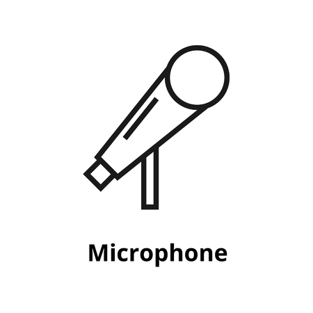 Microphone thin line icon. For user interface and web.