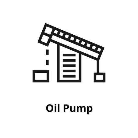 Oil pump thin line icon. Icon for web and user interface Illustration