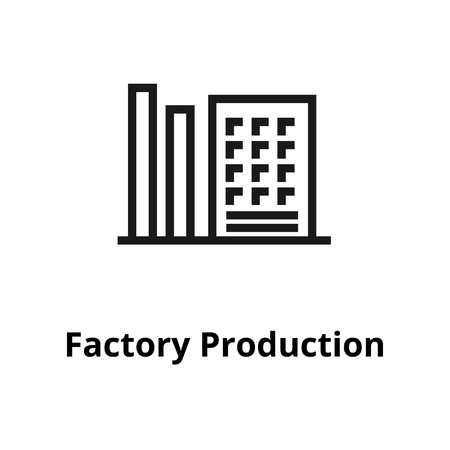 Factory Production thin line icon. Icon for web and user interface