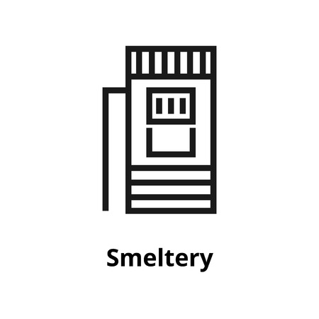 Smeltery thin line icon. Icon for user interface and web