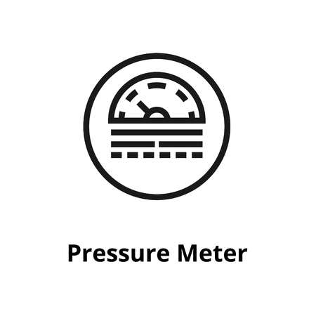 Pressure Meter thin line icon. Icon for user interface and web