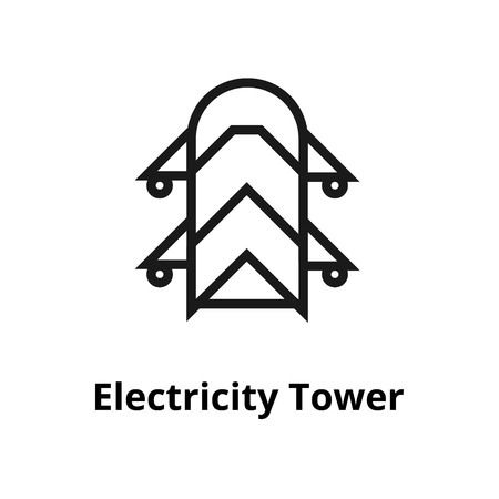 Electricity Tower thin line icon. Icon for user interface and web