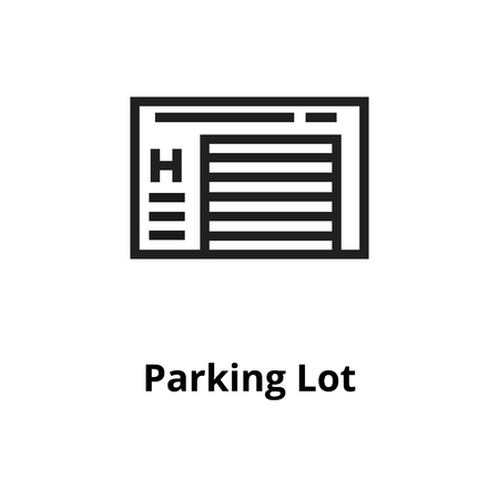 Parking Lot Thin line icon. Icons for web and user interface