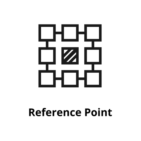 Reference Point Line Icon