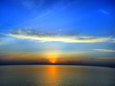 siluet: beautiful sunrise and amazing sky