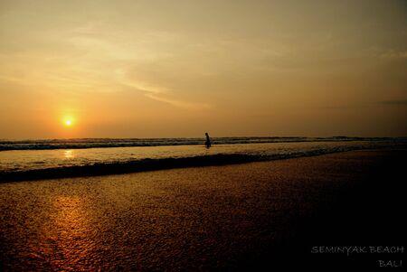 seminyak: Beautiful beach at Bali Stock Photo