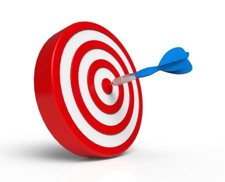 dart board: Blue Dart on Target