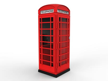 Red Telephone Booth Stock Photo - 17033533