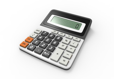 Calculator on a White Background Stock Photo - 17312092