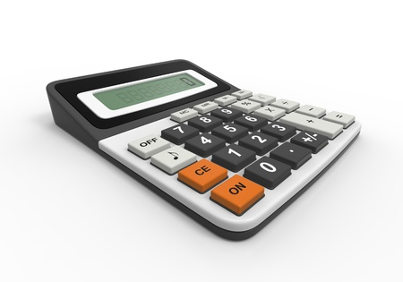 Calculator on a White Background Stock Photo - 17312091