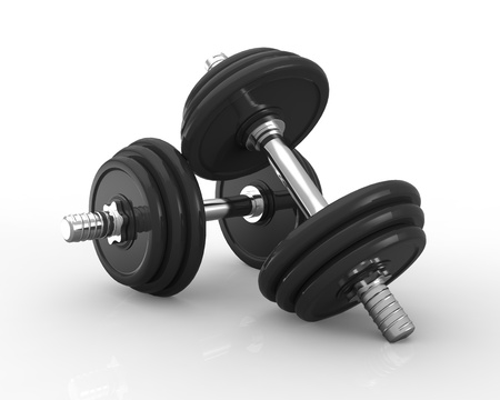 Dumbbells Isolated on White photo