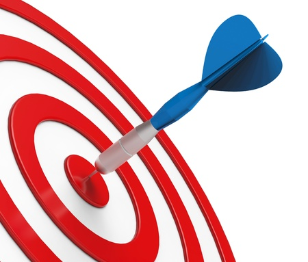 Blue Dart on Target Close-up
