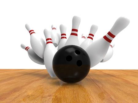 bowling pin: Bowling Ball Crashing Into the Pins