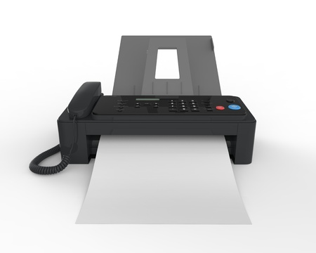 Fax Machine with Paper Stock Photo - 17593251
