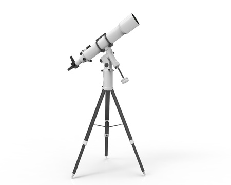 Telescope Isolated on White Background Stock Photo - 17593252