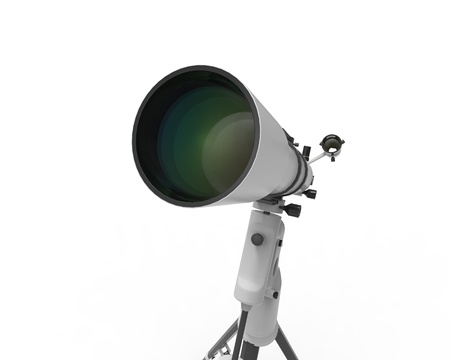 eyepiece: Telescope Isolated on White Background