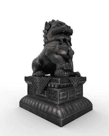 Chinese Lion Statue Stock Photo - 17714239