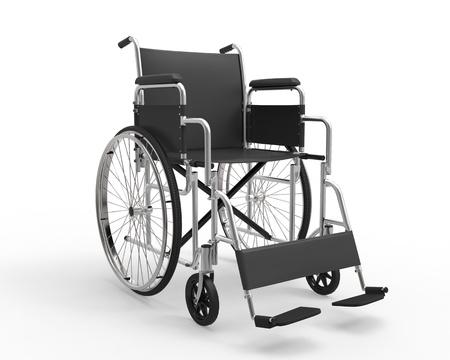 paraplegico: Silla de ruedas aislado en el fondo blanco