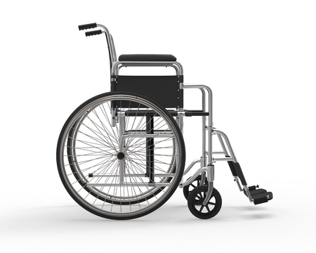 personal injury: Wheelchair Isolated on White Background