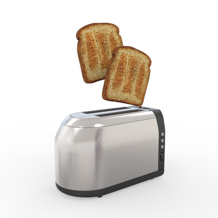 toasted: Toast Popping Out of a Toaster