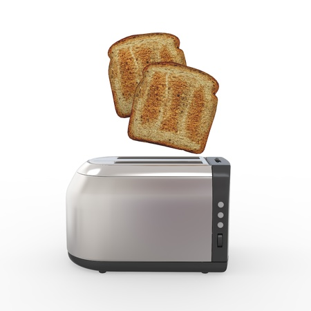 popping: Toast Popping Out of a Toaster